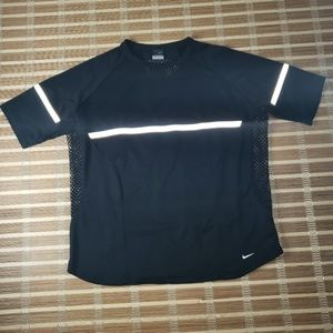 RARE NIKE REFECTIVE RUNNING SHIRT VENTED 16-18